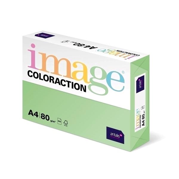 Hartie color pentru copiator COLORACTION, A4, 500 coli, verde forest
