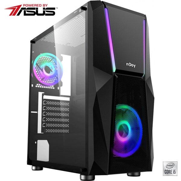 Sistem Desktop Gaming MYRIA Digital V33WIN Powered by Asus, Intel Core I5-10400F pana la 4.3GHz, 16GB, SSD 240GB + HDD 1TB, NVIDIA GeForce GTX 1660 Super 6GB, Windows 10 Home