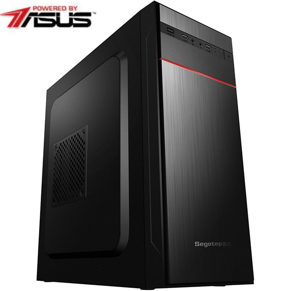 Sistem Desktop PC MYRIA Live V59 Powered by Asus, Intel Core i5-9400F pana la 4.1GHz, 8GB, SSD 240GB, NVIDIA GeForce GT 710 2GB, Ubuntu