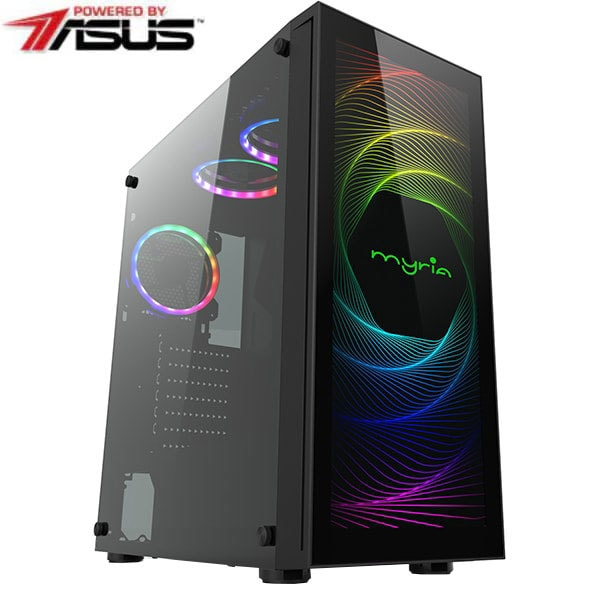 Sistem Desktop PC MYRIA Vision V38WIN Powered by Asus, Intel Core i9-10850K pana la 5.2GHz, 16GB, SSD 480GB, NVIDIA GeForce RTX 3070 8GB, Windows 10 Home