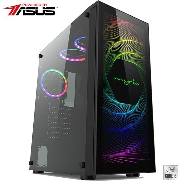Sistem Desktop PC MYRIA Vision V39 Powered by Asus, Intel Core i5-10600KF pana la 4.8GHz, 16GB, 1TB + SSD 240GB, NVIDIA GeForce GTX 1660 6GB, Ubuntu