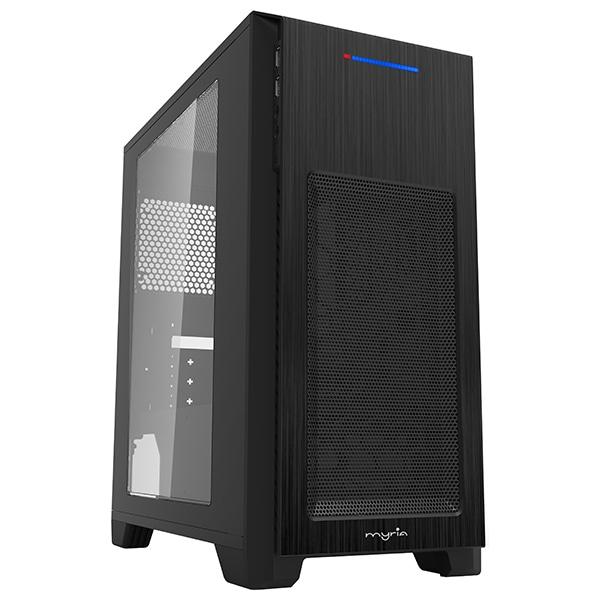 Sistem Desktop PC MYRIA Style V55WIN, AMD Ryzen 5-3400G pana la 4.2GHz, 8GB, SSD 240GB, AMD Radeon RX Vega 11 Graphics, Windows 10 Home