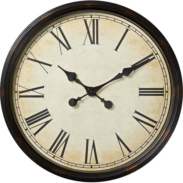 Ceas de perete NEDIS CLWA008WD50BK, diametru 50 cm, maro