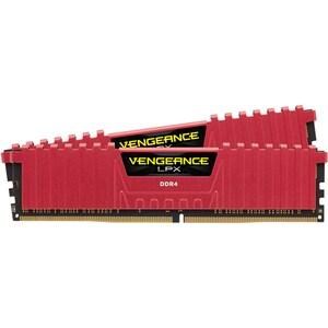 Memorie desktop CORSAIR Vengeance LPX Red, 2x8GB DDR4, CL13, 2133MHz, CMK16GX4M2A2133C13R