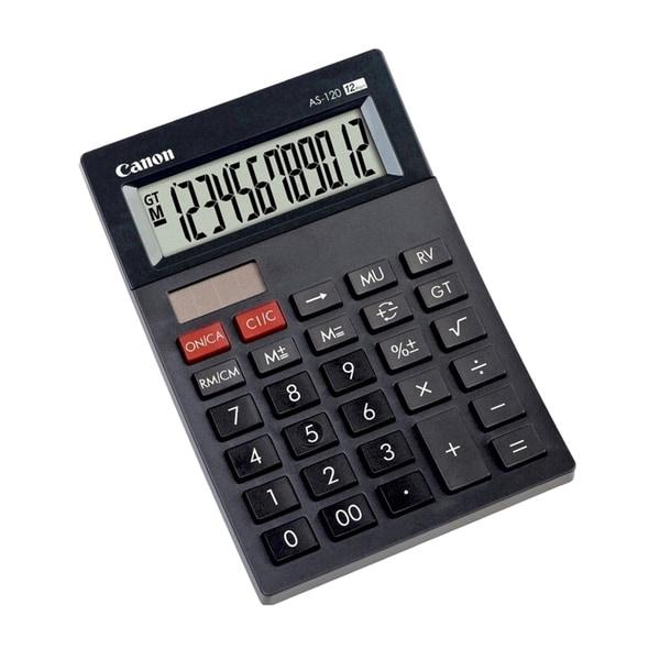 Calculator de birou CANON AS-120, 12 cifre, negru