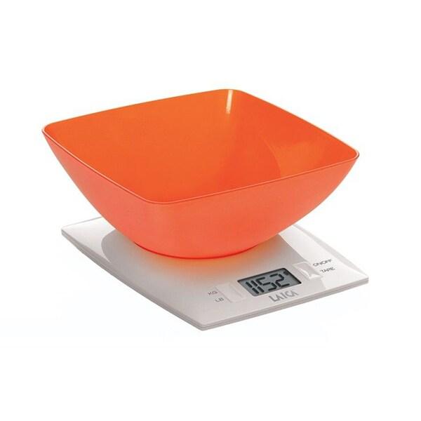 Cantar de bucatarie LAICA KS1012, 3kg, portocaliu-alb