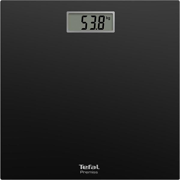 Cantar corporal TEFAL Premiss PP1400V0, 150kg, electronic, sticla, negru