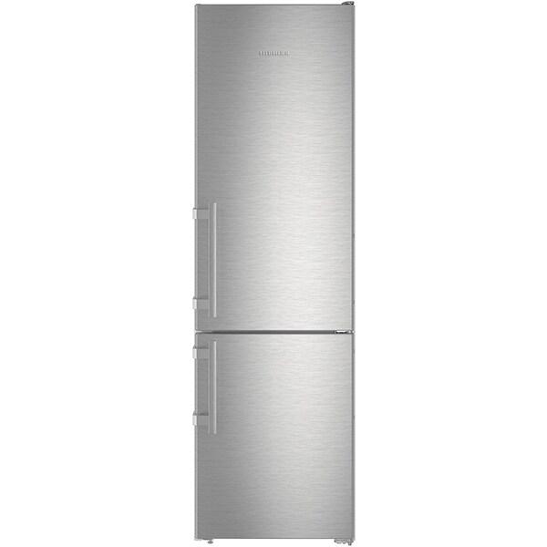 Combina frigorifica LIEBHERR Cnef 4005, No Frost, 356 l, H 201 cm, Clasa E, inox antiamprenta