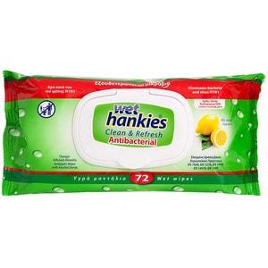 Servetele umede antibacteriene WET HANKIES Lamaie, 72 bucati