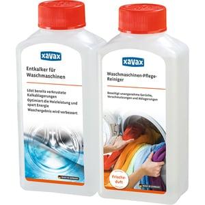 Pachet de curatare si decalcifiere pentru masini de spalat XAVAX, 2 x 250ml