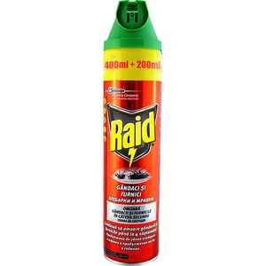 Spray anti-gandaci si furnici RAID, 600ml