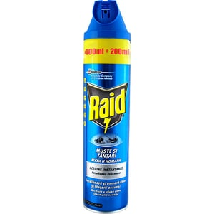 Spray anti-muste si tantari RAID, 600ml