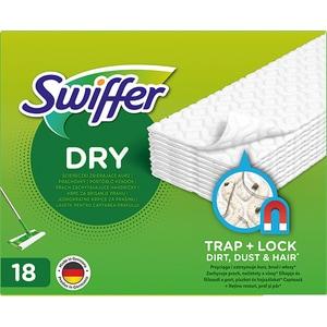 Rezerva uscata mop SWIFFER Dry, 15 cm, 18 bucati