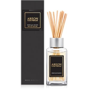 Odorizant cu betisoare AREON Home Perfume Vanilla Black Black Line, 85ml