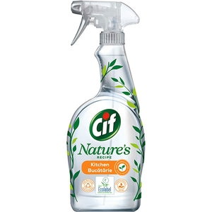 Solutie de curatare bucatarie CIF Nature Spray Degresant, 750 ml