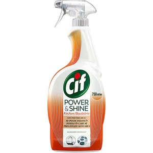 Solutie de curatare bucatarie CIF Power & Shine Spray Degresant, 750 ml