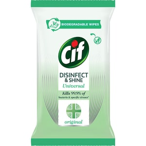 Servetele umede dezinfectante CIF Original, 36 bucati