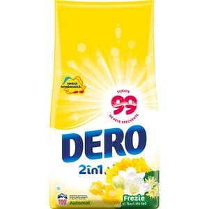 Detergent automat DERO 2in1 Frezie si Flori de tei, 10kg, 100 spalari