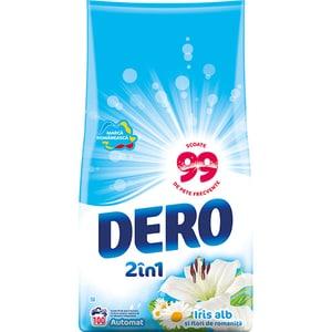 Detergent automat 2in1 DERO Iris alb, 10 kg, 100 spalari
