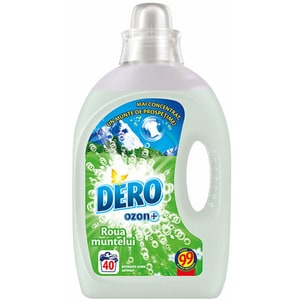 Detergent lichid DERO Ozon+ Roua muntelui, 2 l, 40 spalari