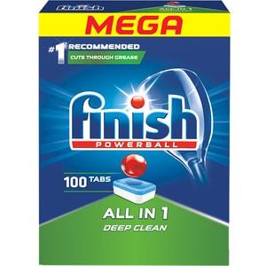 Detergent pentru masina de spalat vase FINISH All in One Regular, 100 bucati