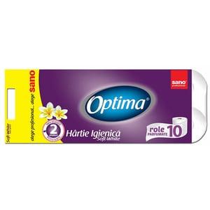 Hartie igienica SANO Optima, 2 straturi, 10 role