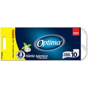 Hartie igienica SANO Optima, 3 straturi, 10 role