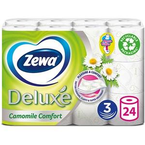 Hartie igienica ZEWA Deluxe Camomile comfort, 3 straturi, 24 role