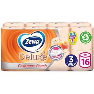 Hartie igienica ZEWA Deluxe Cashmere peach, 3 straturi, 16 role