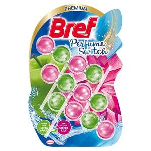 Odorizant toaleta BREF Perfume Switch Apple-Water Lily, 3 x 50g