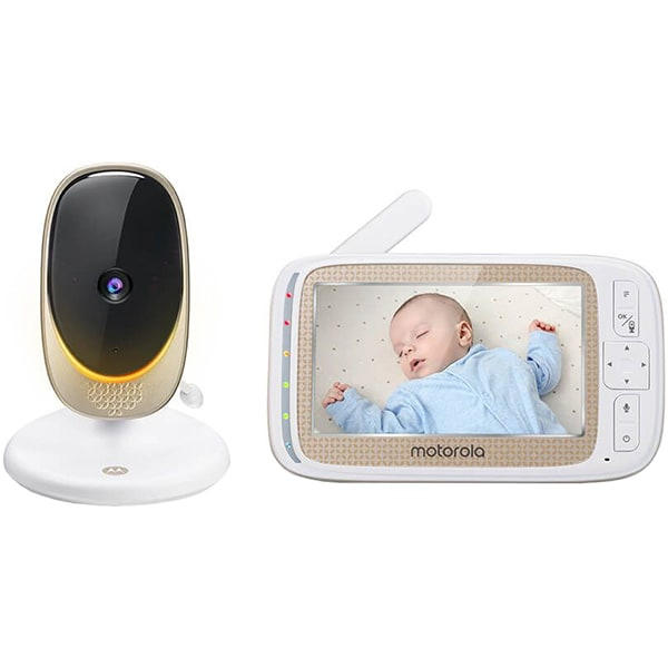 Monitor video digital Wi-Fi MOTOROLA Comfort60 Connect, alb-negru