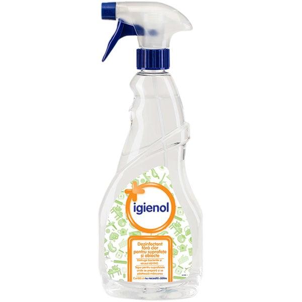 Spray dezinfectant suprafete IGIENOL Clear, 750ml
