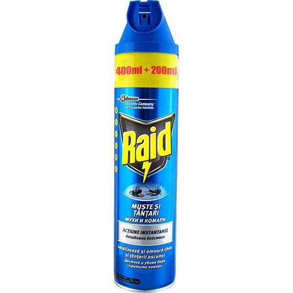 Spray anti-muste si tantari RAID, 600ml