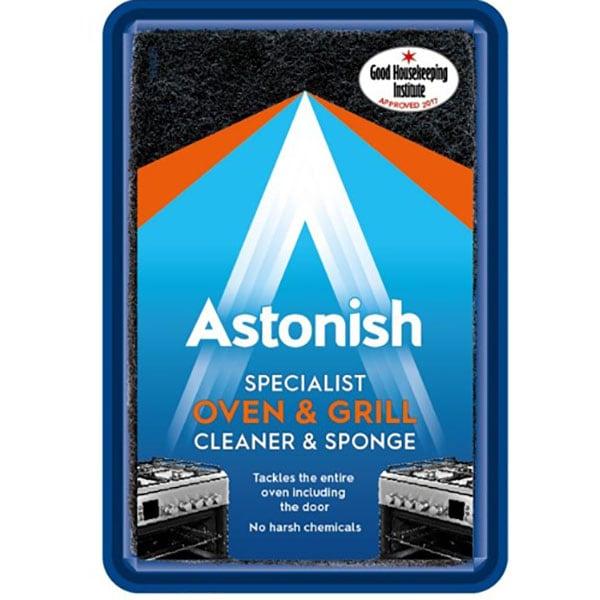 Pasta speciala pentru curatare aragazuri, cuptoare + burete ASTONISH C8600, 250g