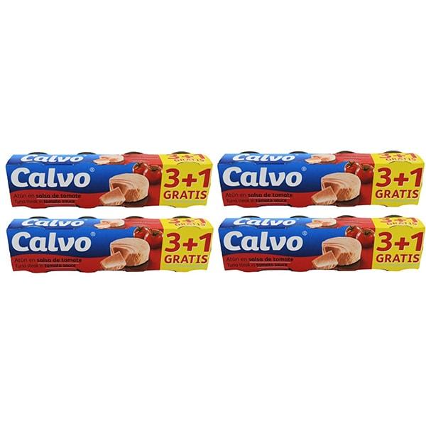 Ton in sos de rosii CALVO, 80g, 4 bucati