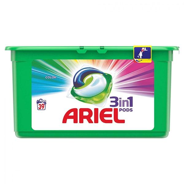 Detergent capsule ARIEL All in One PODS Color, 39 spalari