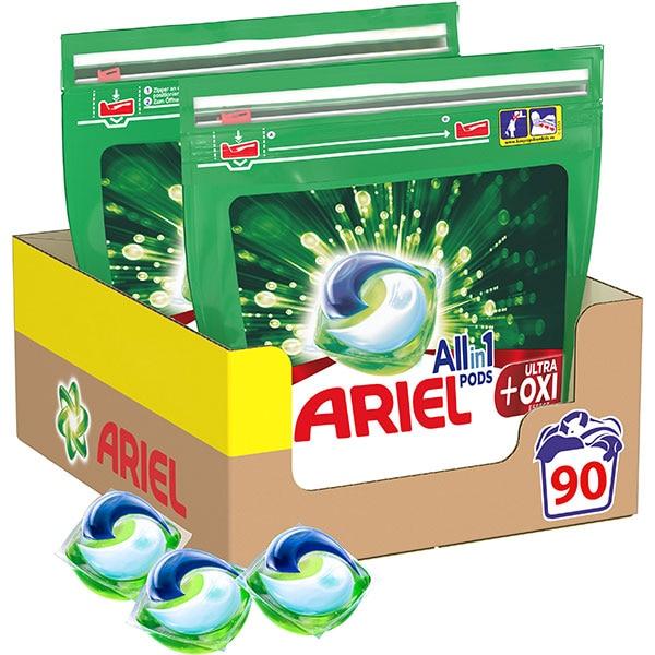 Detergent capsule ARIEL All in One PODS Plus Oxi Effect, 90 spalari