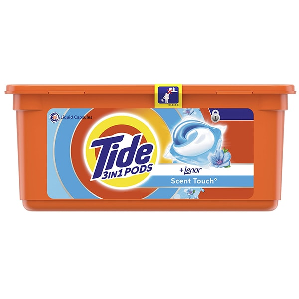 Detergent capsule TIDE PODS Touch of Lenor, 26 spalari
