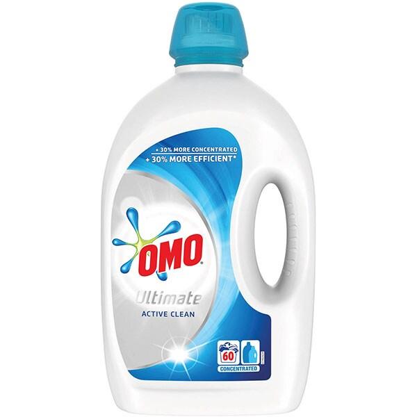 Detergent lichid OMO Ultimate Active Clean, 3l, 60 spalari