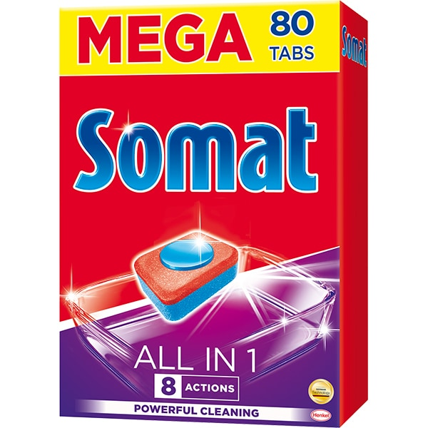 Detergent pentru masina de spalat vase SOMAT All In One, 80 tablete