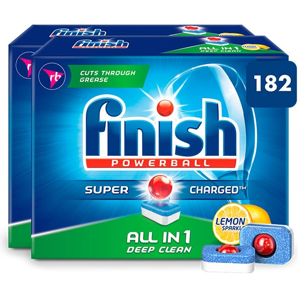 Detergent vase pentru masina de spalat vase FINISH All in One, 182 bucati