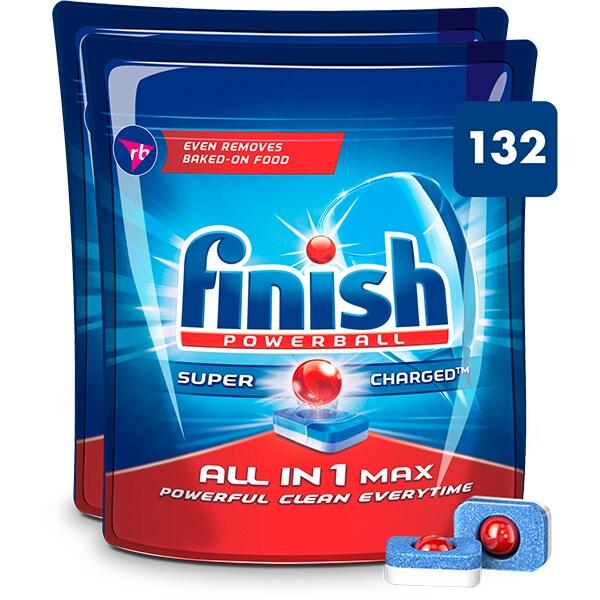 Detergent vase pentru masina de spalat vase FINISH All in One, 132 bucati