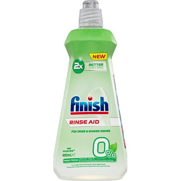 Solutie de clatire pentru masina de spalat vase FINISH Eco 0%, 400 ml