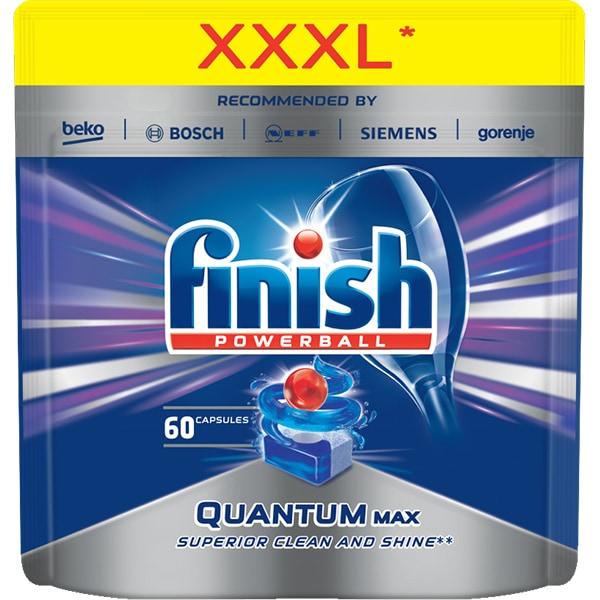 Detergent vase pentru masina de spalat vase FINISH Quantum Max, 60 bucati