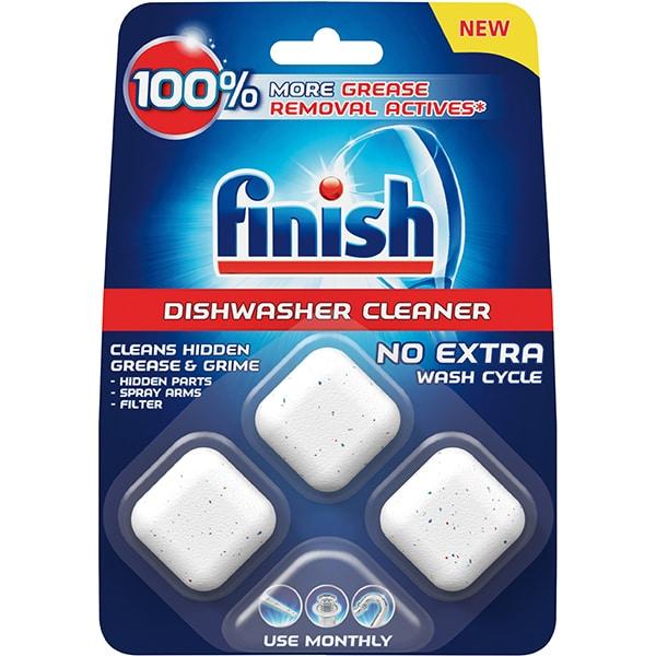 Solutie curatare pentru masina de spalat vase FINISH Machine Cleaner In-Wash, 3 bucati