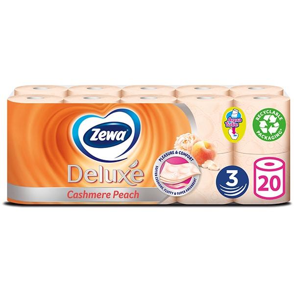 Hartie igienica ZEWA Deluxe Cashmere peach, 3 straturi, 20 role