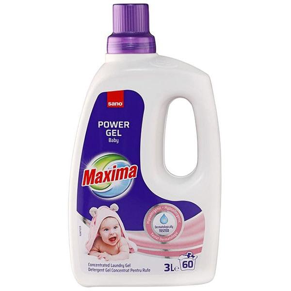 Detergent lichid SANO Maxima Baby, 3l, 60 spalari