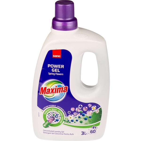Detergent lichid SANO Maxima Spring Flowers, 3l, 60 spalari
