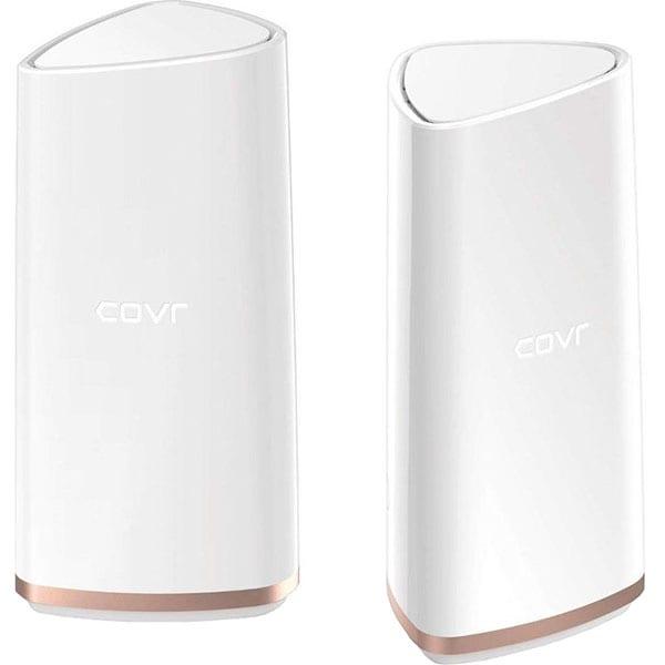 Sistem Wireless Mesh Gigabit D-LINK COVR-2202 AC2200, Tri-Band 400 + 867 + 867 Mbps, 2 Buc, alb