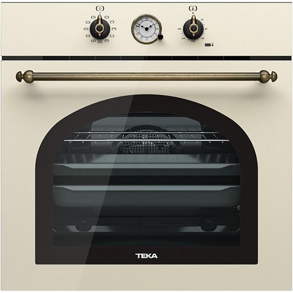 Cuptor incorporabil TEKA Rustic HRB 6300 VN, Electric, Autocuratare hidrolitica, 70l, Clasa A+, vanilla